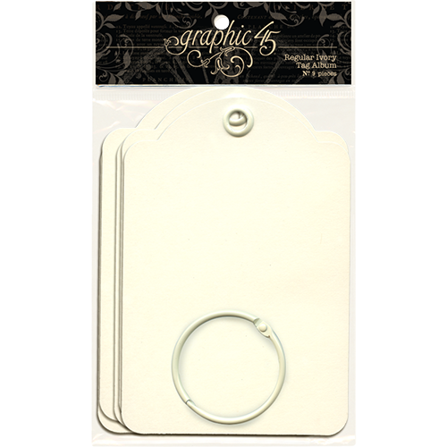 G45 Tags 8.75 x 3.875 Large Tags - Ivory