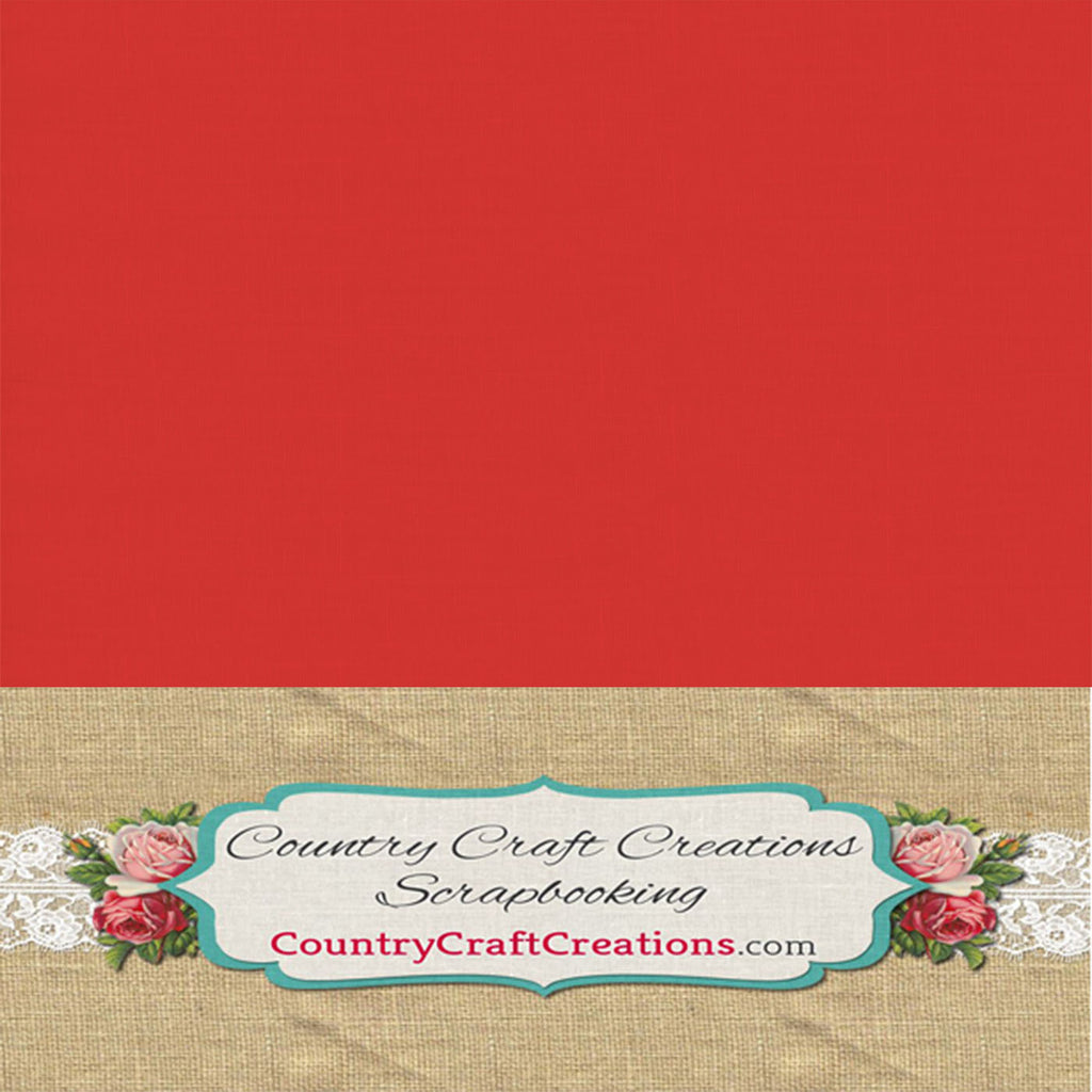 Artisan Cardstock - Linen - Barn Red / Single Sheets