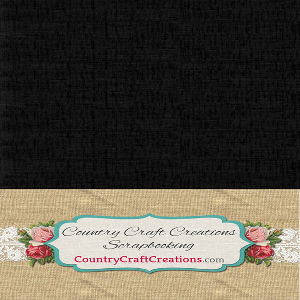 Artisan Cardstock - Linen - Black / Single sheets