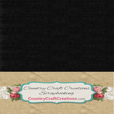 Artisan Linen Cardstock Black / Single sheets