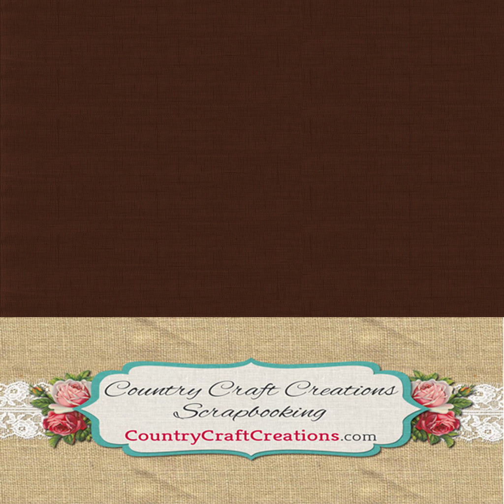 Artisan Linen Cardstock Brown / Single Sheets