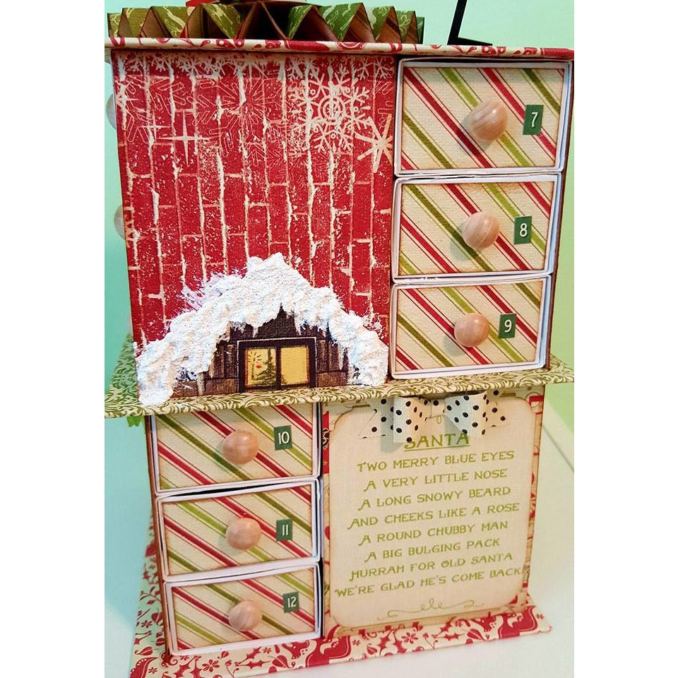 Advent Chipboard Slide Boxes / set of 24 / SHIPPING OUT 10/16/19