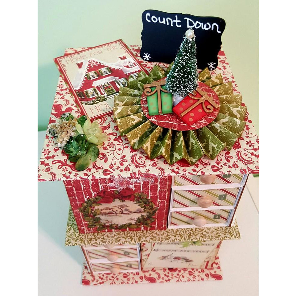 Advent Chipboard Slide Boxes / set of 24
