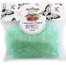 Art Glitter Fantasy Fiber / Mint Sparkle