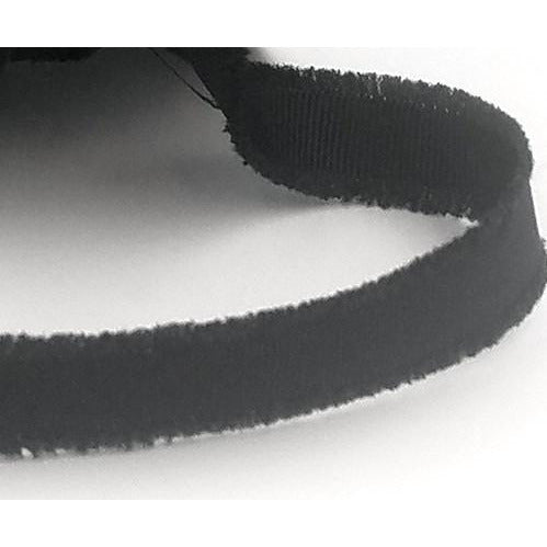 Fuzzy Black Ribbon Sold by the Yard