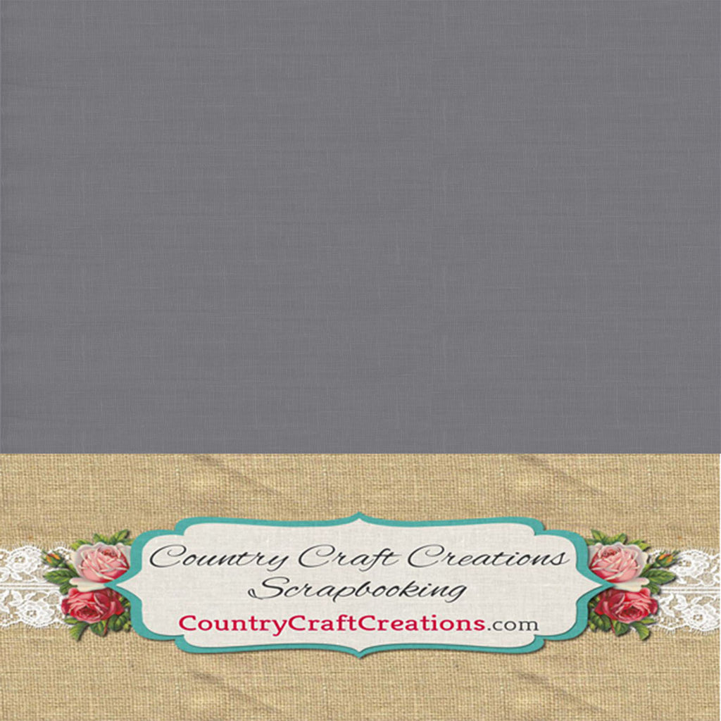 Artisan Cardstock - Linen - Gray / Single Sheets