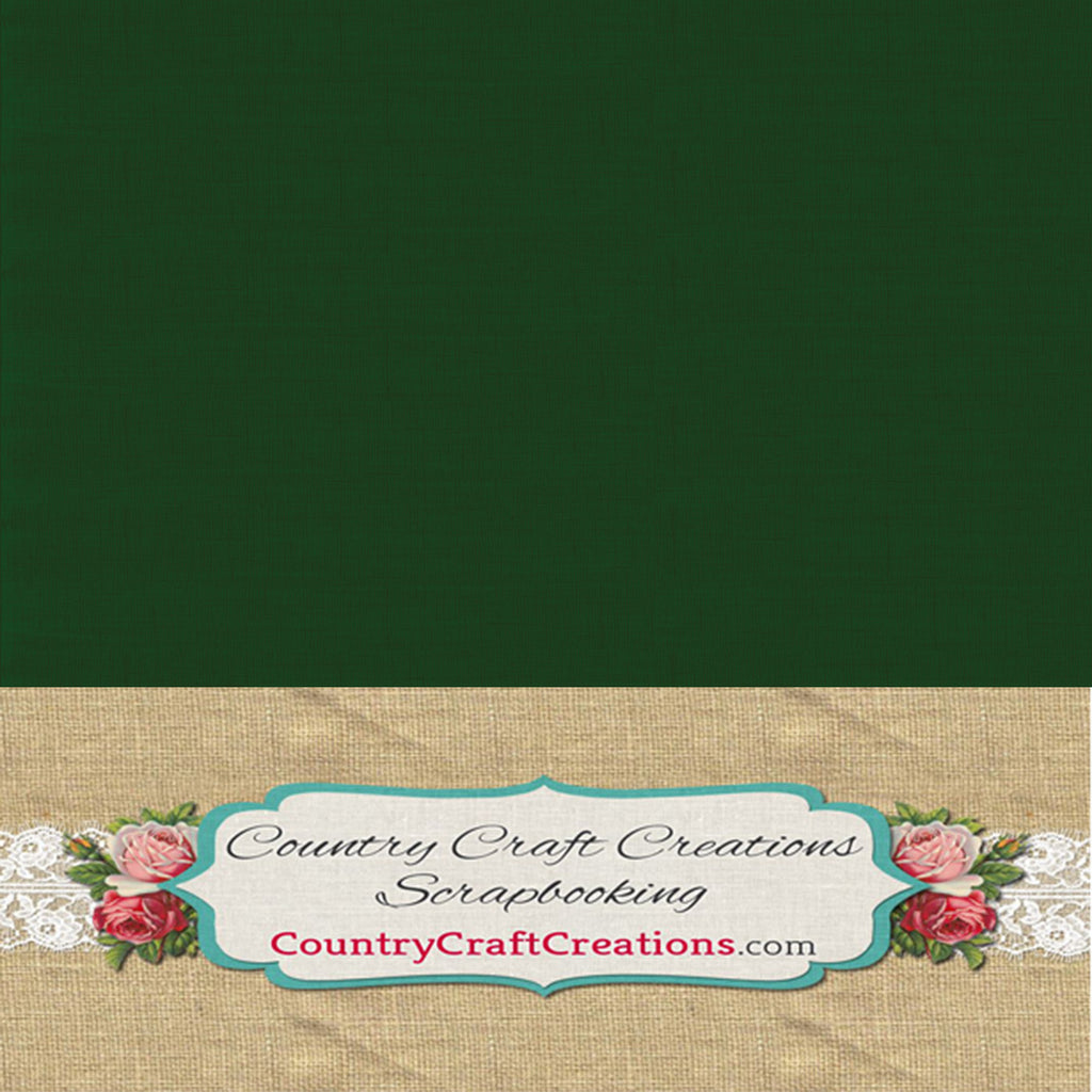 Artisan Linen Cardstock Green / Single Sheets