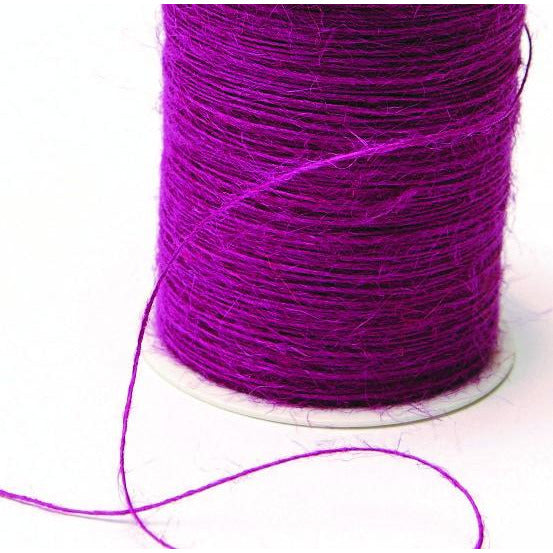 Jute Burlap String Cord Ribbon - Grape