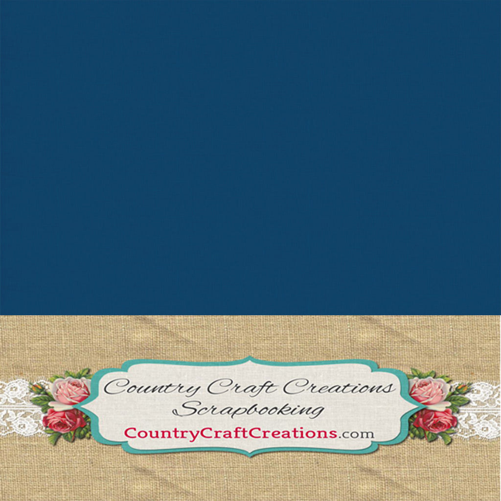 Artisan Cardstock - Linen - Navy Blue / Single Sheets