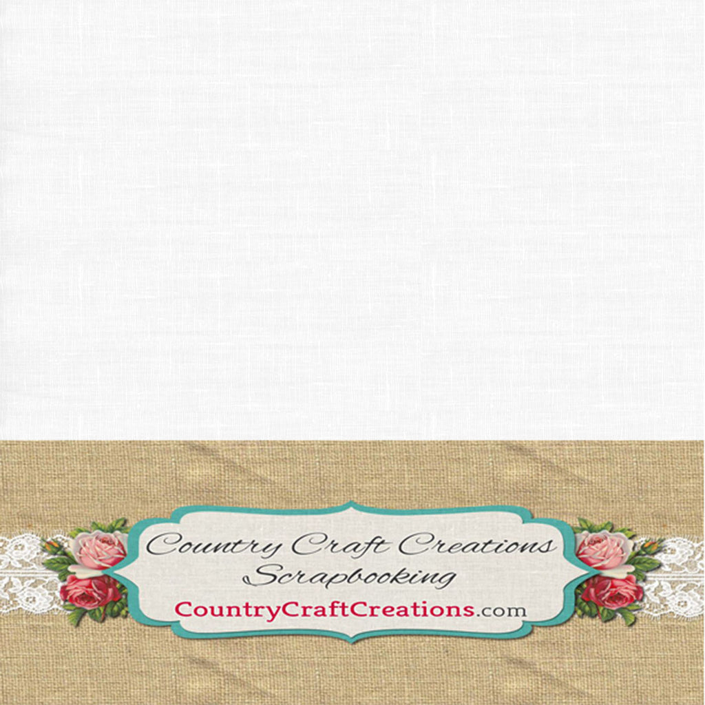 Artisan Cardstock - Linen - White / Single Sheets
