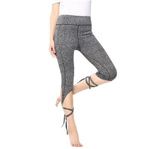 Quick Dry Elastic Waist Yoga Tights Leggings Pants
