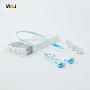 Glow In The Dark Luminous Light Metal Zipper Headphones
