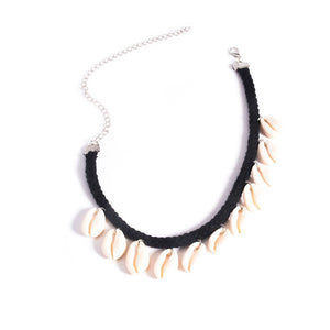 Bohemian Beach Sea Shell Choker Necklace