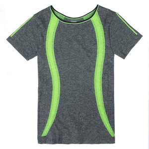 Professional Women's Short Sleeve Fitness and Sports Shirt