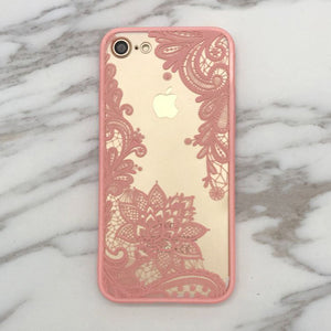 Sexy Lace Paisley and Henna Flower Case For iPhone 7
