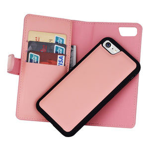 2 in 1 Leather Flip Multifunction Wallet Case for iPhone or Samsung
