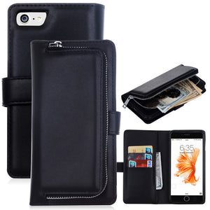 2 in 1 Leather Flip Phone Case/Wallet For iPhone and Samsung Galaxy