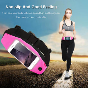 Universal 5.5 inch Sporty Waist Bag  Gym Running Phone Pouch Phone Bag Case