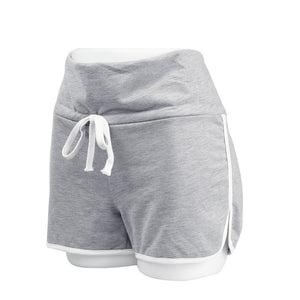 Yoga Shorts Lady's Hot Summer High Waist Drawstring Short