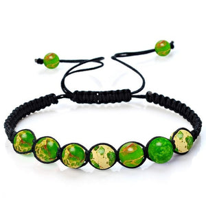 Adjustable Multicolored Balance Beads Casual Jewelry Bracelet