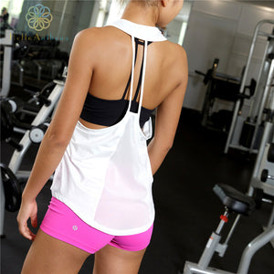 Women's Loose Mesh Fabric Tank Top for Sports