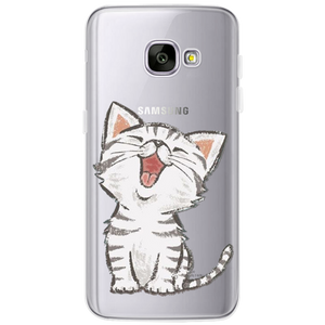 Silicon Cat Phone Coque For Samsung Galaxy S3 S4 S5 S6