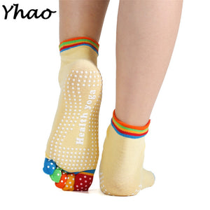 Colorful Professional Yoga Socks  Five Toe Pilates Anti-skid Socks