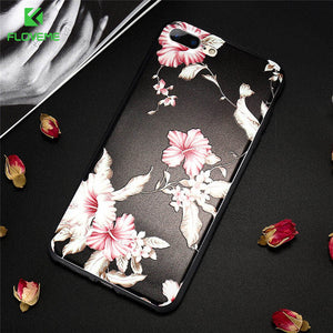 3D Flower Soft Phone Case For iPhone Relief Rose Silicon Case