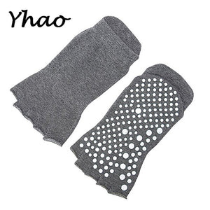Yoga Toes Socks Non Slip Skid Pilates Barre with Grips for Women And Men Free Szie