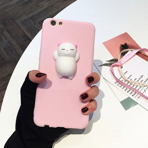 Cat Case For iPhone  Lovely Cartoon Soft Cat Cases
