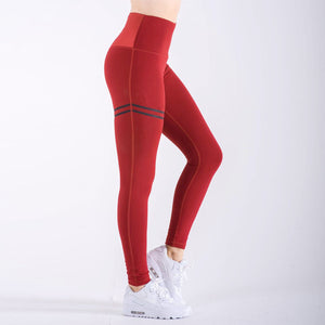 Sports Pants High Waist Yoga Fitness Leggings Gym Stretch Trousers