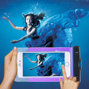 100% Sealed Waterproof Bag Pouch Phone Case For iPhones and Androids