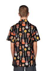 Musical Strings Pattern - Black - Hawaiian Shirt
