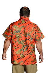 Oriental Tatsu Chinese Dragon Pattern - Red - Hawaiian Shirt