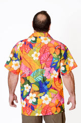 Feak Shirt for Men Tropical Summer Flowers Print