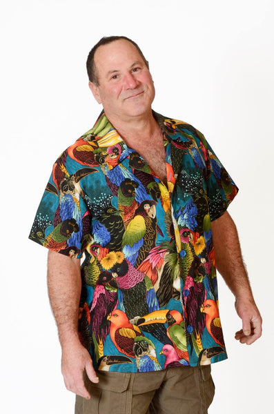 Feak Shirt for Men Exotic Birds Print