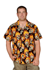 Hot Heads Skull Pattern - Hawaiian Shirt