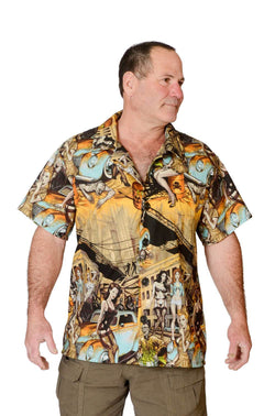 Feak Shirt for Men Zombie Print