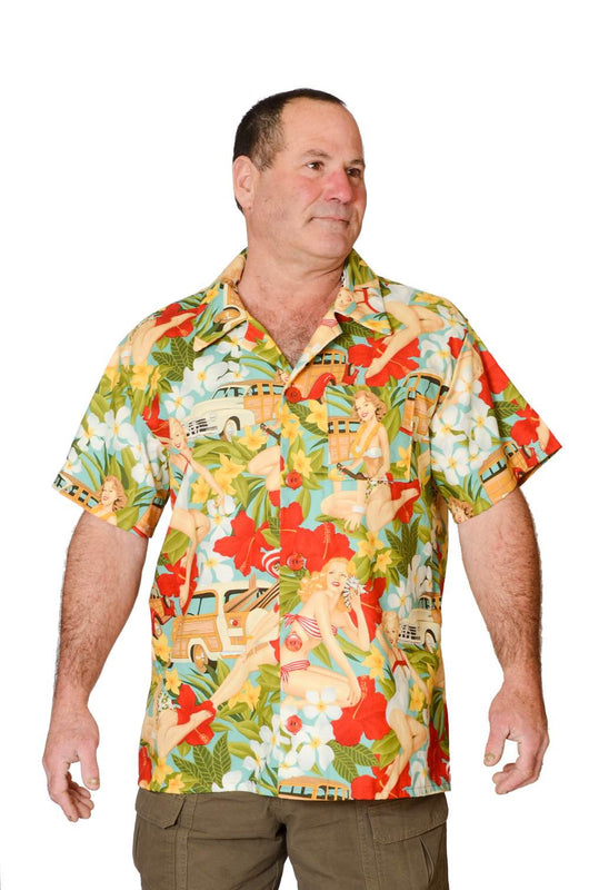Feak Shirt for Men 60s island Summer Print