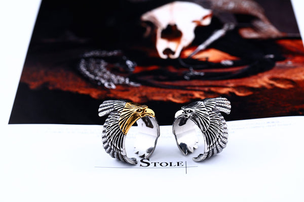 Mens Ring With Flying Bird