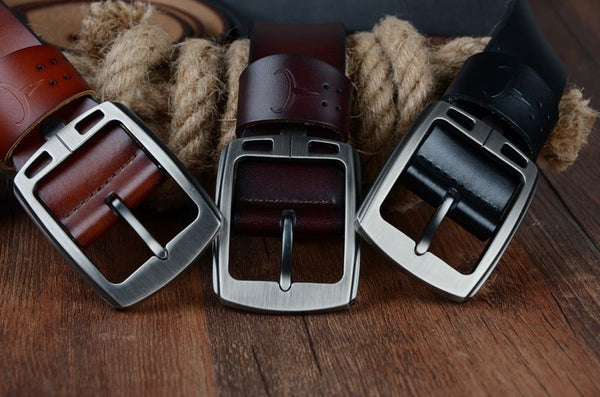 Men's Genuine Leather Cowhide Waist Belt