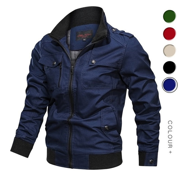 Military Jacket Men Spring Autumn Cotton 2019