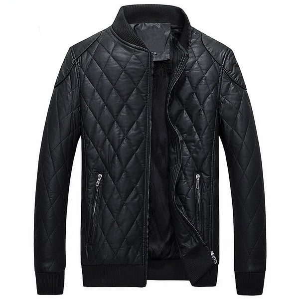 New Winter Leather Jacket Men 2019