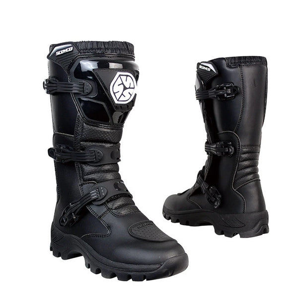Boots Motorcycle  Reinforced Motocross Boots Anti-skid Shock-Proof
