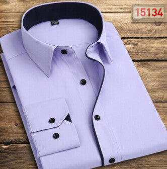 Men Shirt  Fashion Casual Long Sleeve Shirt