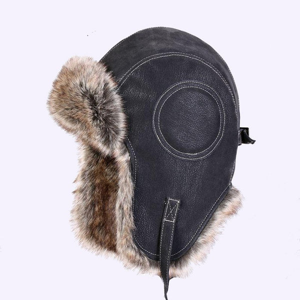 SEGLA Faux Leather Fur Winter Warm Plush Earflap