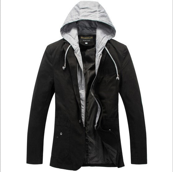 Casual Slim Fit Blazer With Hood Spring