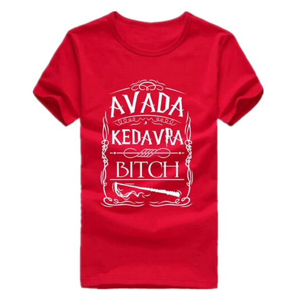 Summer Style Avada Kedavra Bitch T Shirt Men Women Short Sleeve
