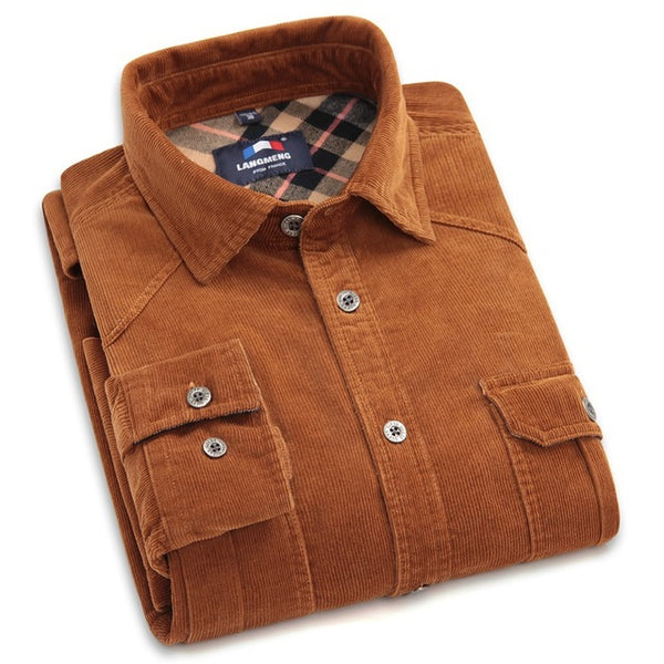 100% Сotton Corduroy Men's Shirt