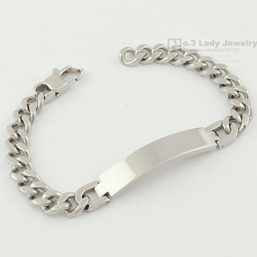 Fashion Stainless Steel ID Bracelet